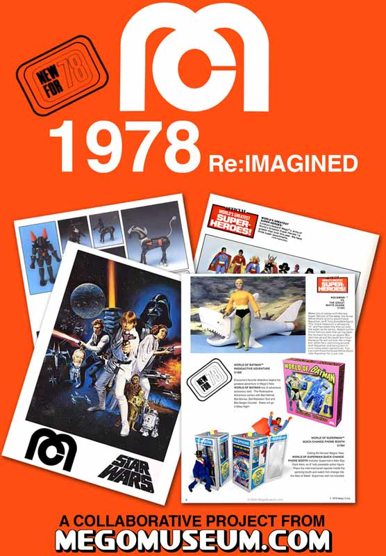 the 1978 Mego catalog you create
