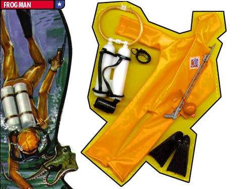 Action Jackson Frogman suit by Mego