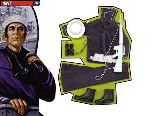 Navy outfit for Mego Action Jackson