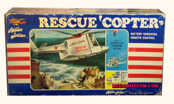 Mego boxed Action Jackson rescue copter
