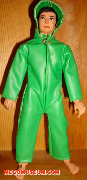 Action Jackson green frogman suit by Mego