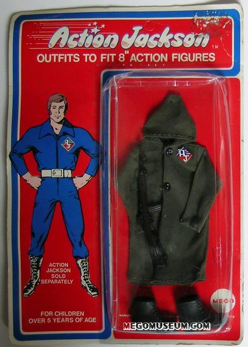 Action Jackson raincoat by Mego
