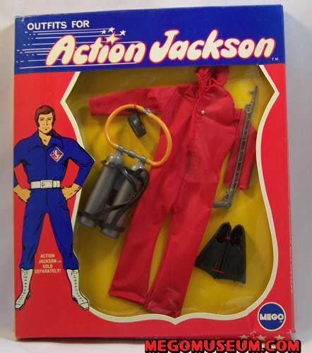 Red frogman suit for action jackson