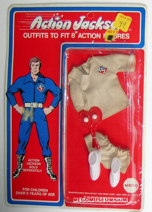 Action Jackson tennis outfit by Mego