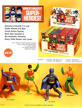 The first 4 Mego Super Heroes
