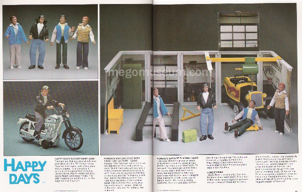 Happy Days 1977 Mego catalog debut
