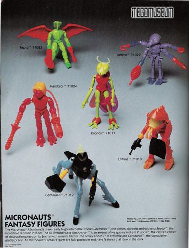 Dealer Command Center >> Mego Catalog Library: 1980 Micronauts