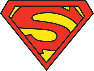 Using the font century type in an s that is 400 px lowercase for Superman logo template for cake
