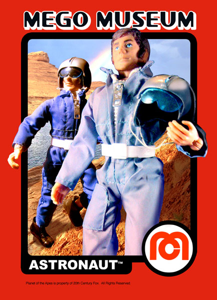 megomuseum Astronaut card from Planet of the Apes