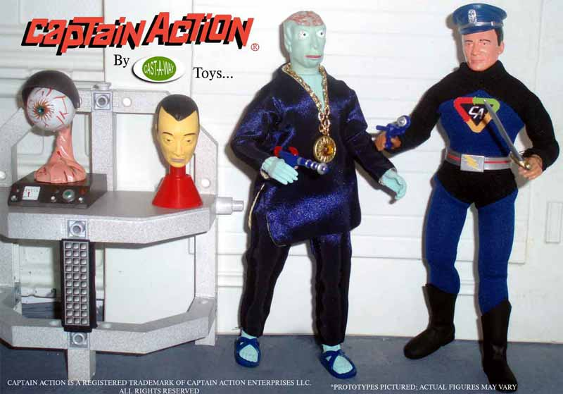 captain action and dr evil from castaway toys