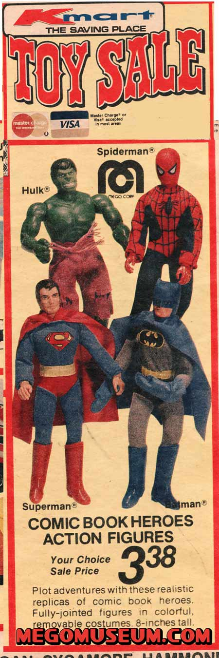 K Mart Toy Sale featuring Mego Superheroes