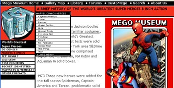The new Mego Superheroes Section at the Megomuseum