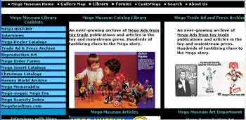 The new Mego library Section at the Megomuseum