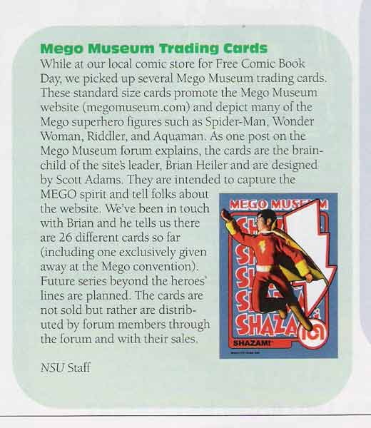 Mego Museum is featured in this months non sport update