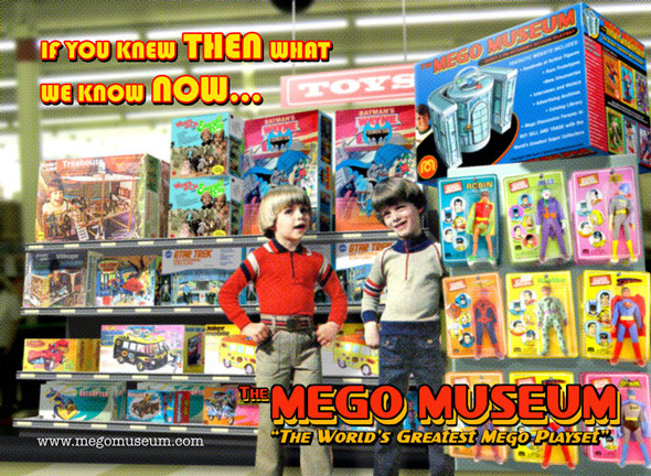 the mego museum postcard