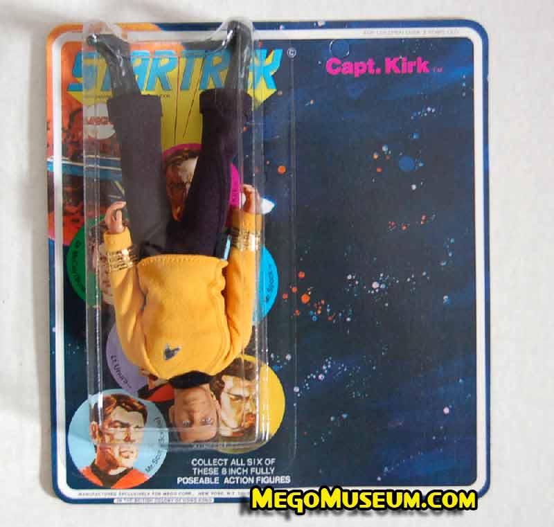 Captain Kirk on a rare Mego Error card.