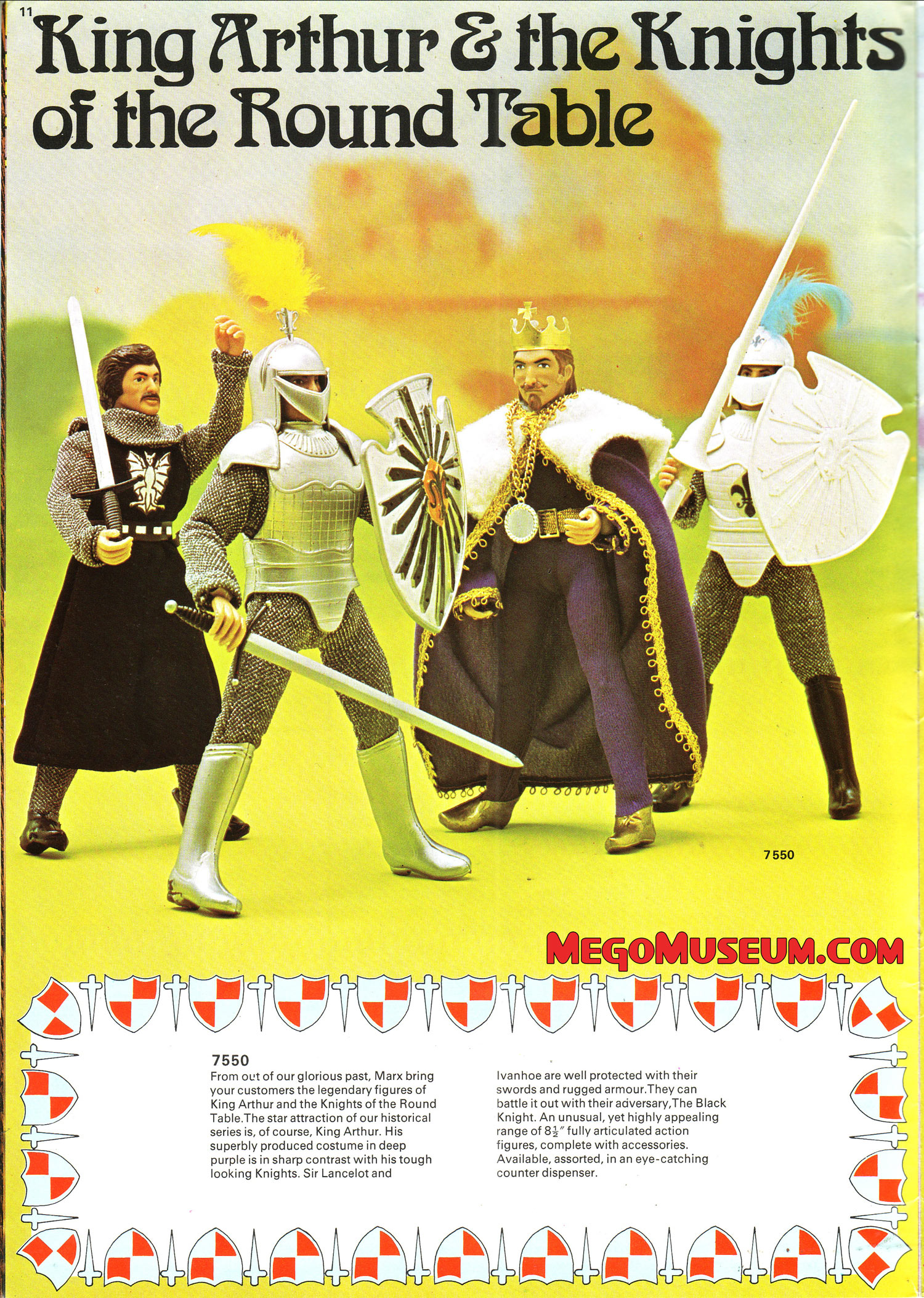 Mego Super Knights in the 1975 Marx Catalog