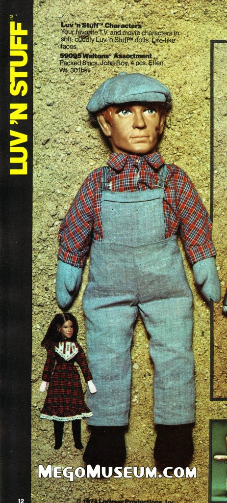 Mego John Boy and Mary Ellen plush dolls were not produced.