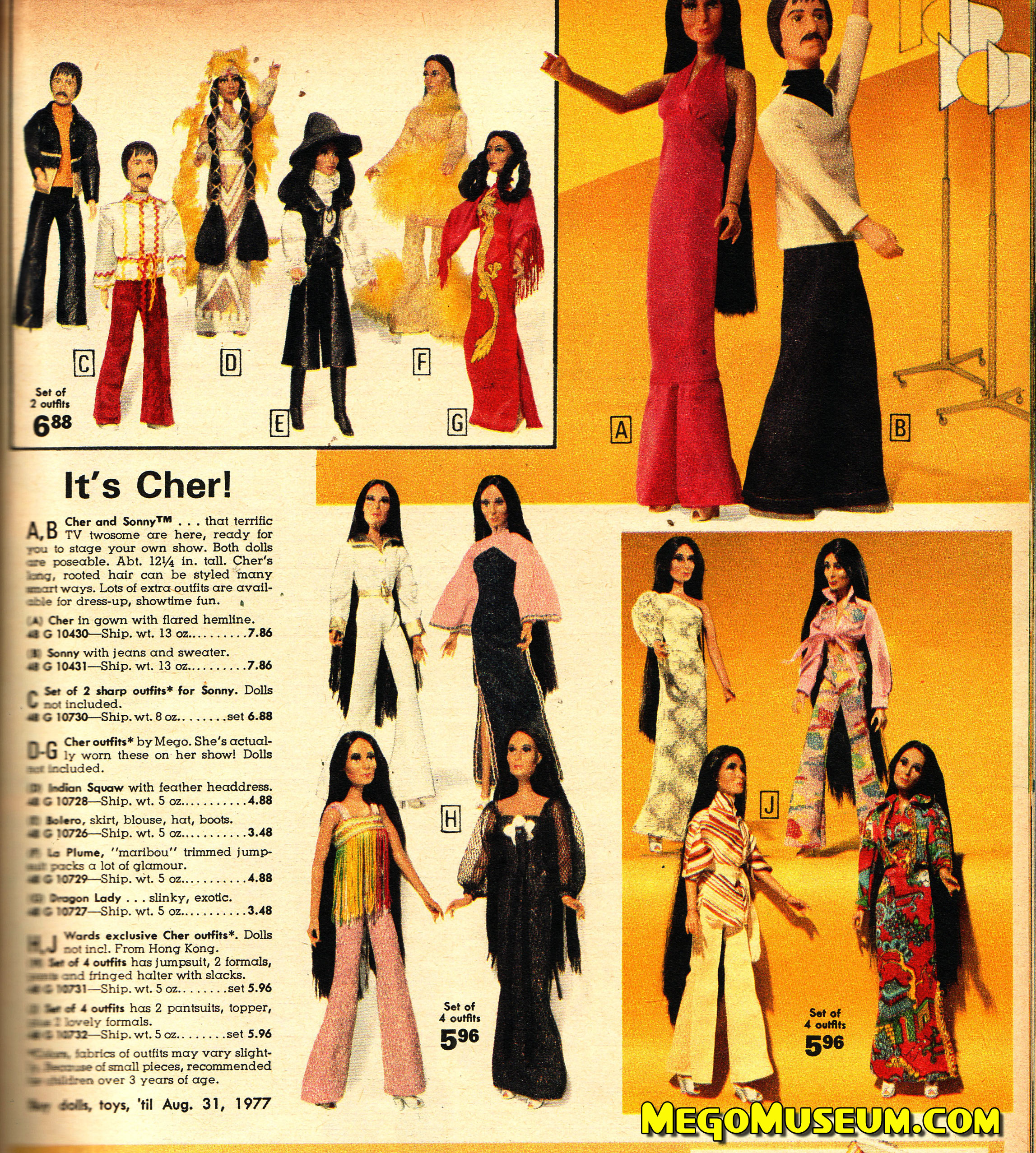 Sonny and Cher in the 1976 Ward's Catalog - MegoMuseum.com