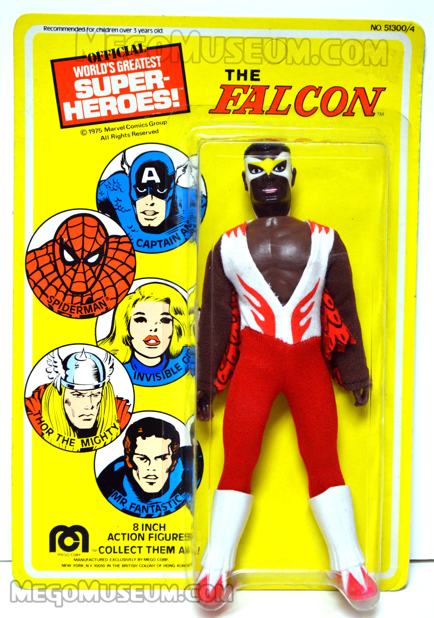 Mint on Card Mego Falcon Action Figure