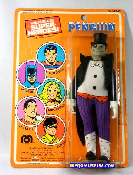 Mego Penguin on a Canadian Card