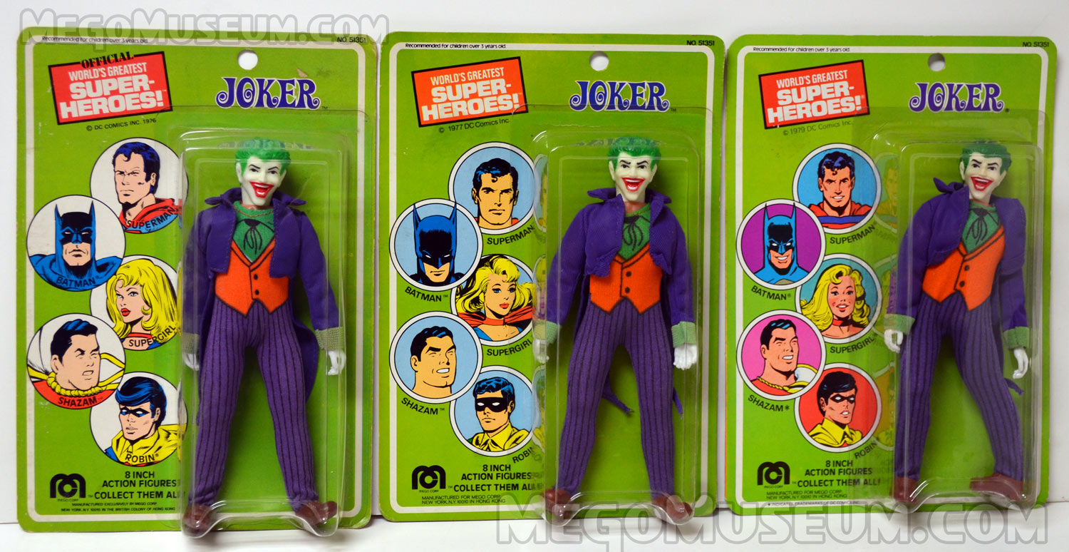 The entire run of US Mego Joker Cards.