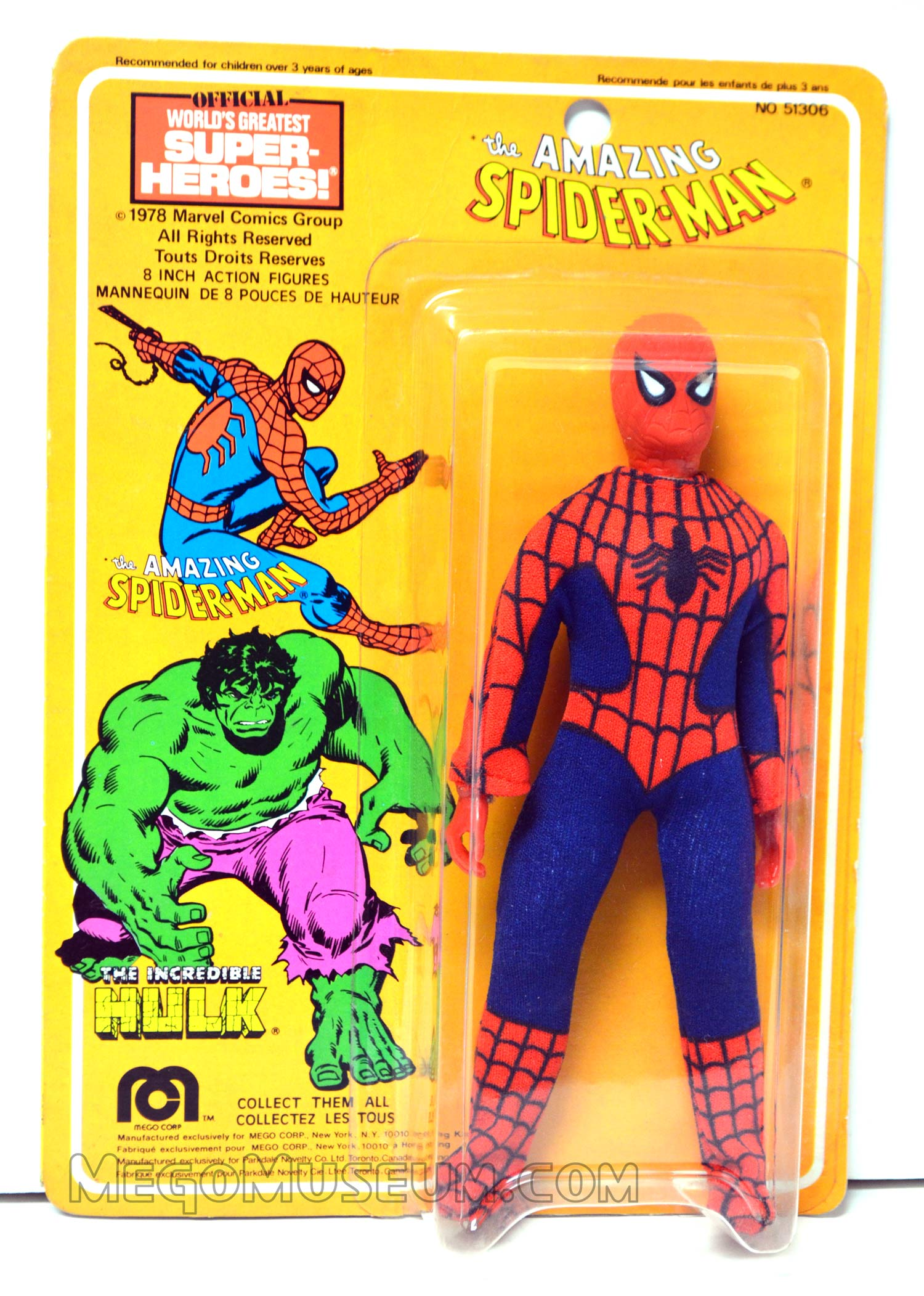Mego Spiderman on Parkdale Novelty Card