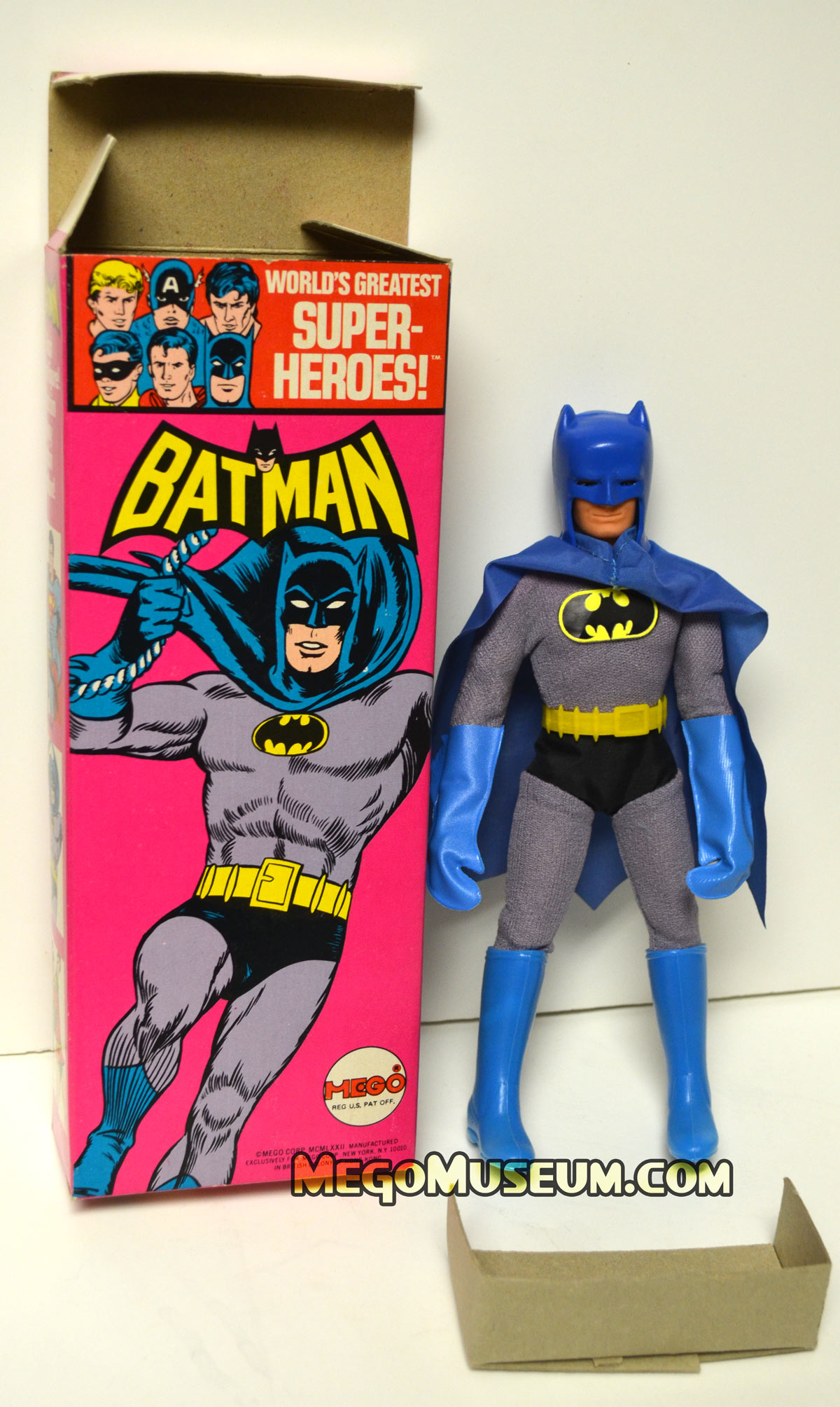 Mego Solid Boxed Batman (photo Courtesy of Mark Huckabone)