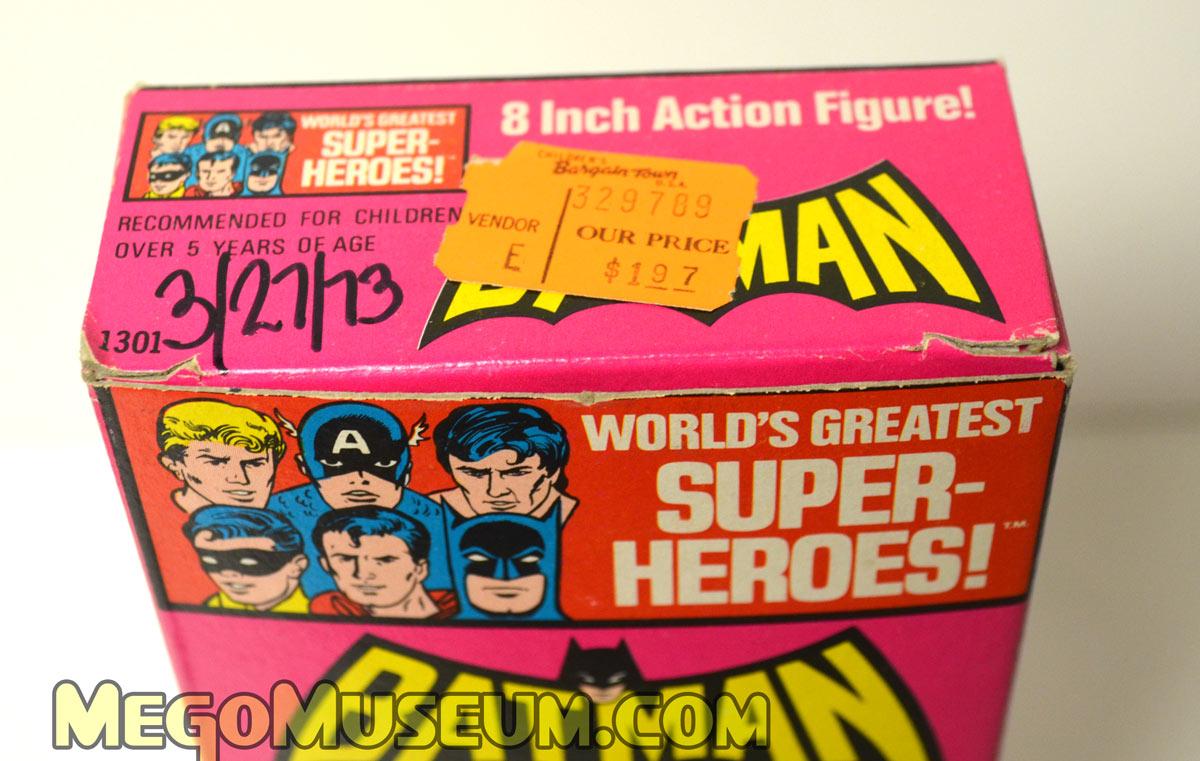 Top the Mego Solid Box Batman
