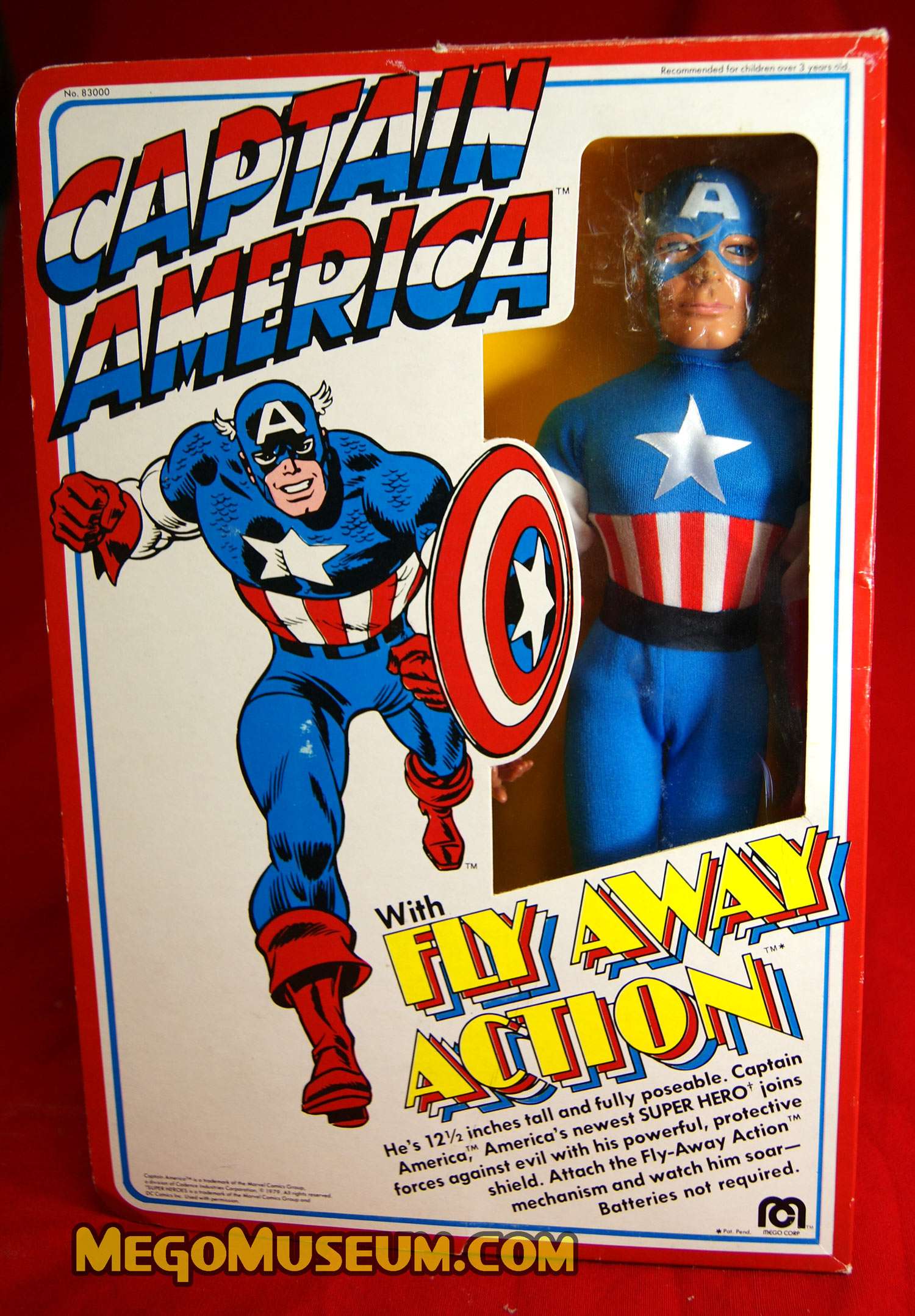 "Mego 12"" Captain America with Fly Away Action- MegoMuseum"