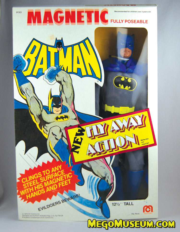 Mego 12 Inch Batman with magnetic hands and feet and fly-a-way action