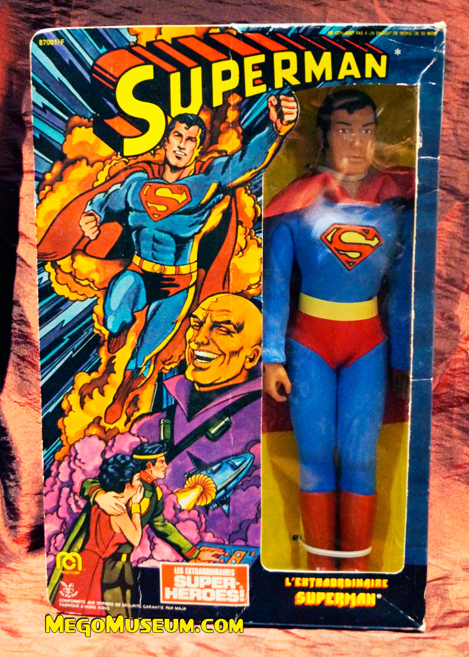 Mego Pin Pin Superman from France.