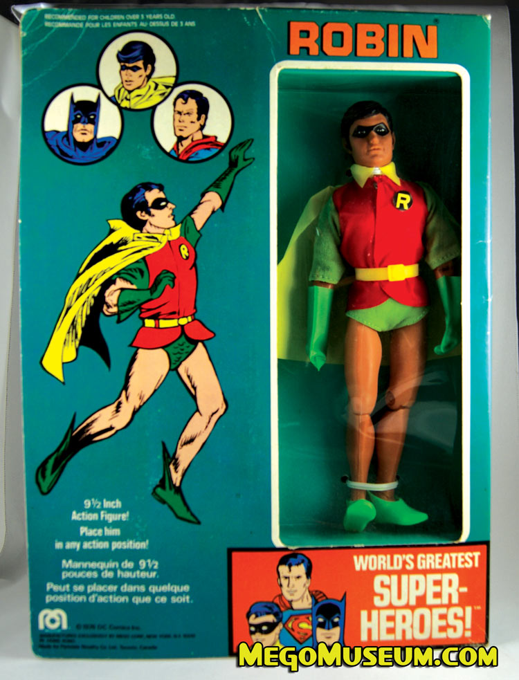 12 Inch Mego Robin in the Canadian Box