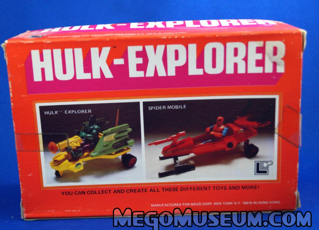 Mego Hulk Explorer vehicle for Pocket Superheroes