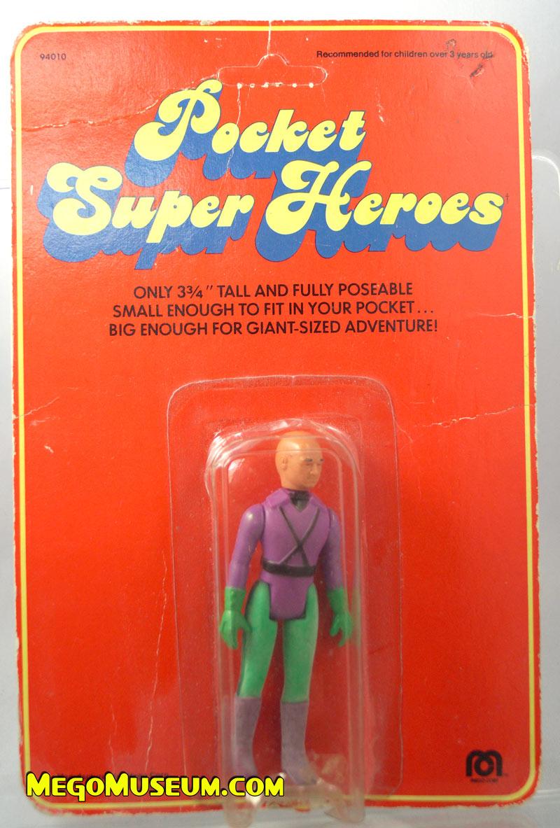 Mego Pocket Superheroes Red Card Lex Luthor