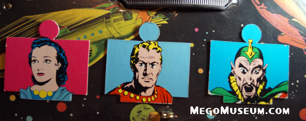 Viewer Screens from the Mego Flash Gordon Play Set