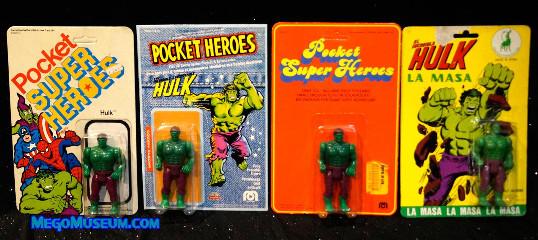 Mego Hulk on Spanish Pocket Heroes Card