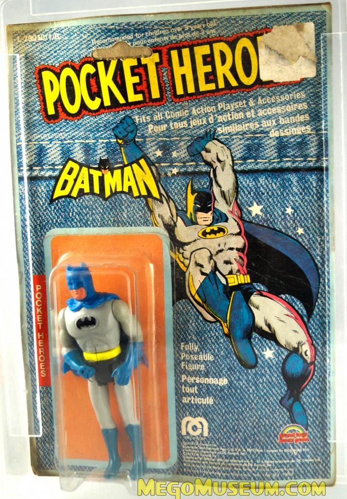 Mego Pocket Heroes Batman on Grand Toys Denim Card