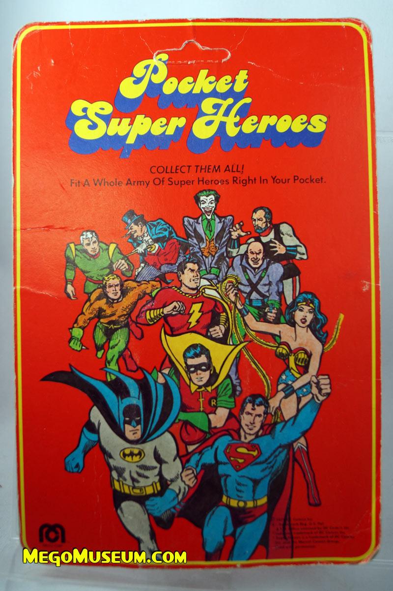 Mego Pocket Superheroes Red Card Backer