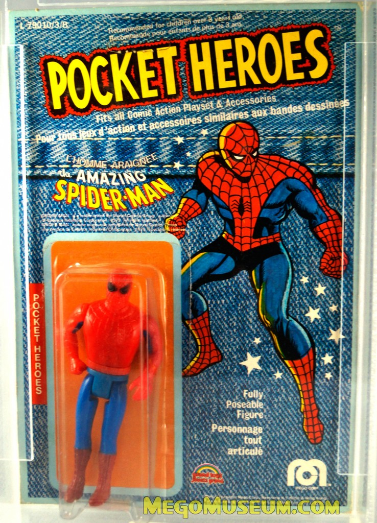 Mego Pocket Heroes Spider-Man Denim Card by Grand Toys Canada