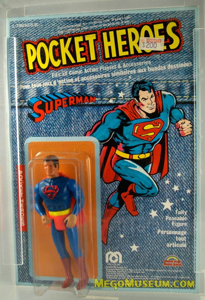 Mego Pocket Heroes SuperMan Denim Card by Grand Toys Canada