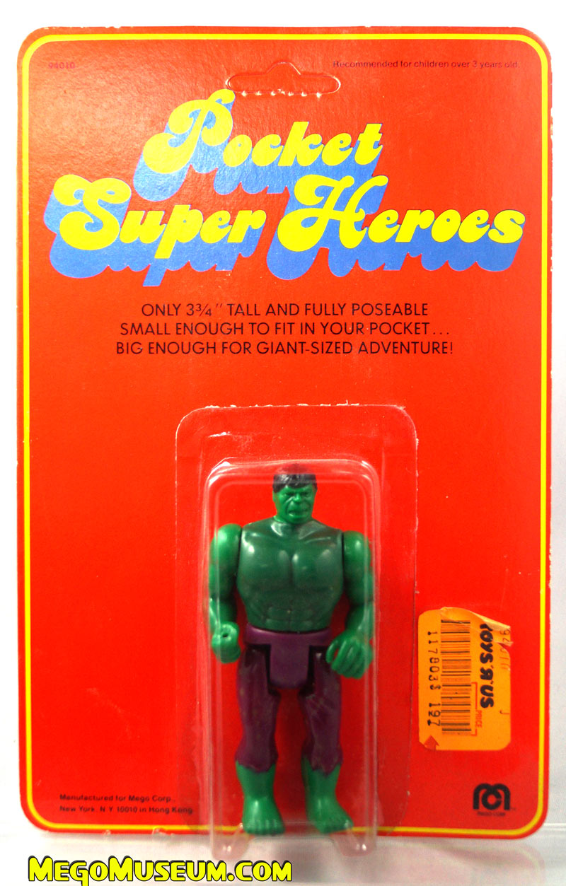 Mego Pocket Superheroes Red Card Hulk