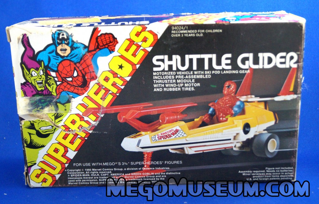 Mego Shuttle Glider vehicle for the Marvel Comics Superheroes