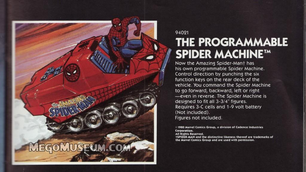 Spider-Man Spider Machine by Mego Toys. Mego Museum
