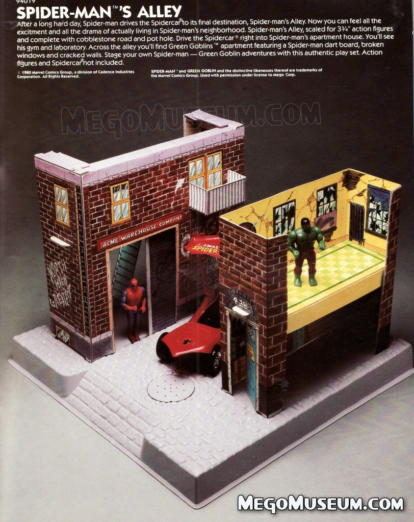 Mego Spider-Man Alley Play set