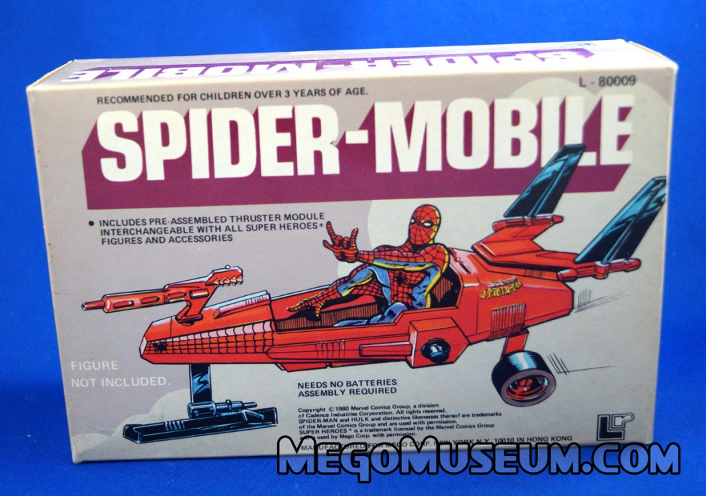 Mego Spider-Mobile vehicle for Pocket Superheroes