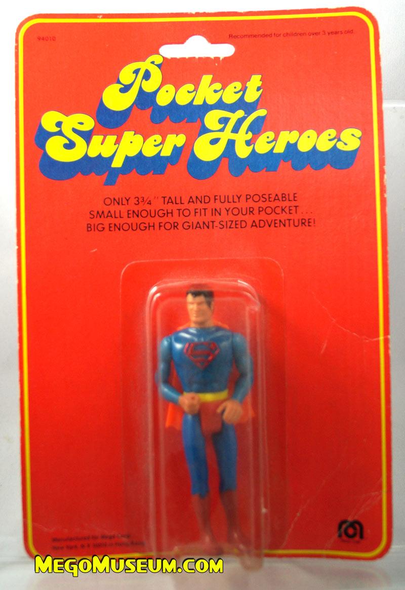 Mego Pocket Superheroes Red Card Superman