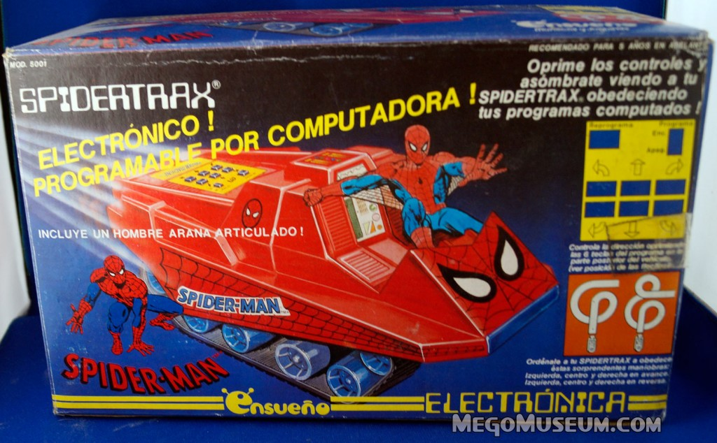 Mego Boxed Ensuano Spider-Trax Mexico