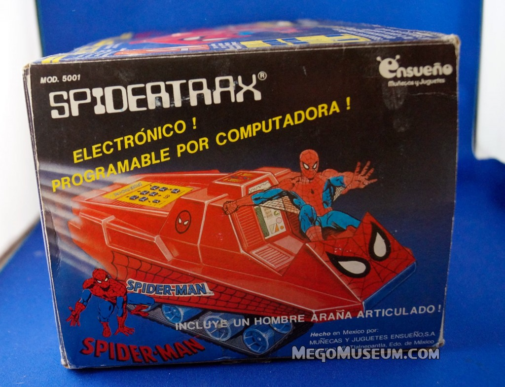 Mego Boxed Ensueno Spider-Trax Mexico  Mego Museum Spider-Man