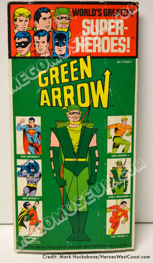 1974 Mego Kresge Green Arrow Backside MOC